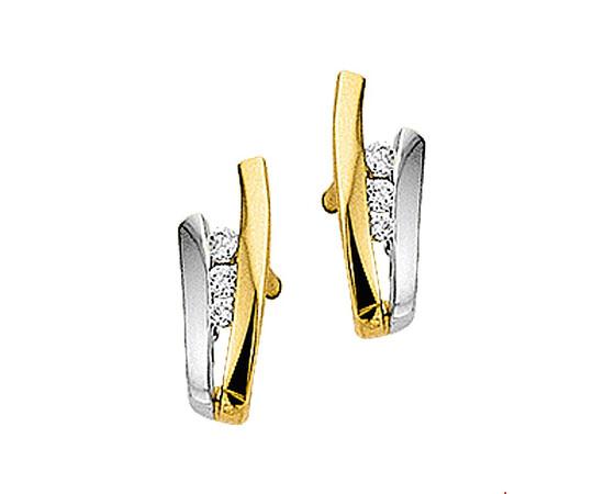 Gouden Stekeroorringen zirkonia  - 4202782