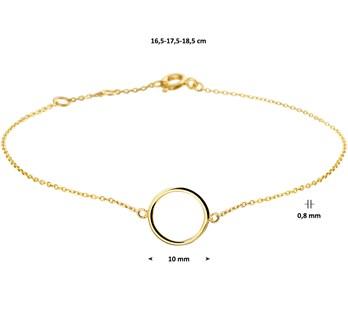 Gouden dames armband Cirkel 4018685