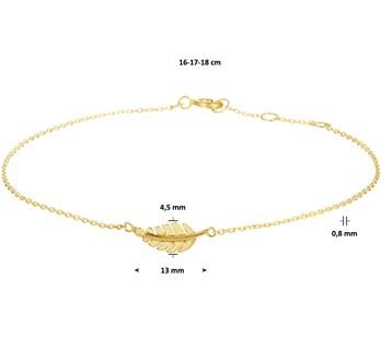 Gouden schakel armband Veer 4020136