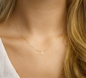 Gouden letter A collier - 4021365