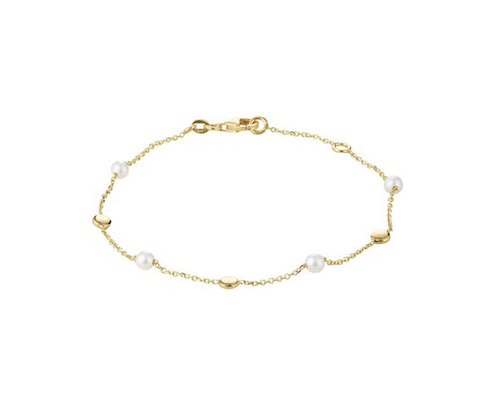 Gouden dames armband Parel 4020757