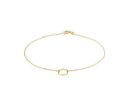 Gouden dames armband Zeshoek 4021337
