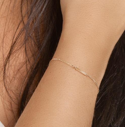 Gouden schakel armband Balkje 4018228