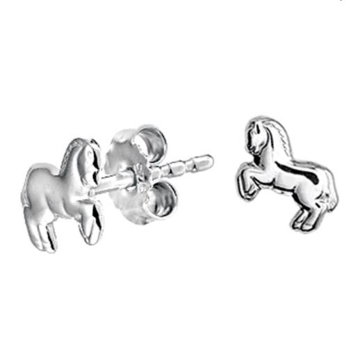 Zilveren Kinder Oorknopjes Paard - 1322010