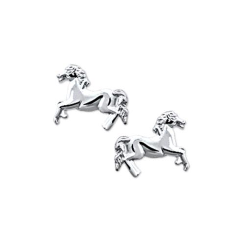 Zilveren Kinder Oorknopjes Paard - 1321813