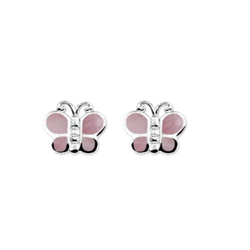 Zilveren Kinder Oorknopjes Vlinder - 1322466