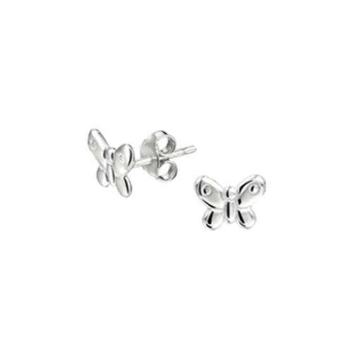 Zilveren Kinder Oorknopjes Vlinder - 1321781