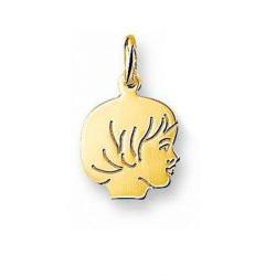 Gouden kinderkopje meisje - 5854