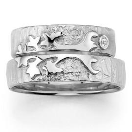 zilveren trouwring levensboom