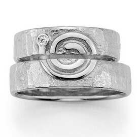 zilveren trouwring spiral