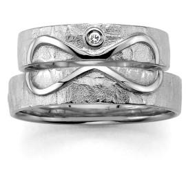 zilveren trouwring infinity