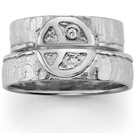 zilveren trouwringen peace